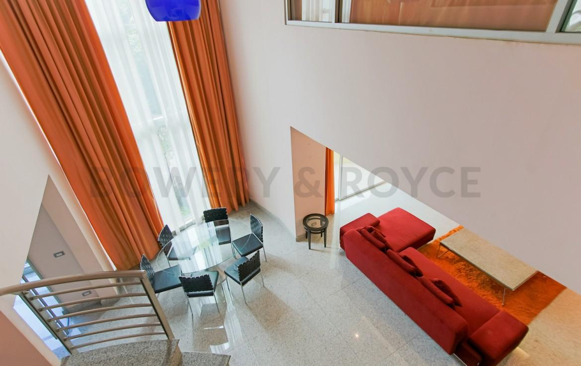 Large Two Bedroom Duplex For Rent in Phra Khanong-12-view-from-second-floor