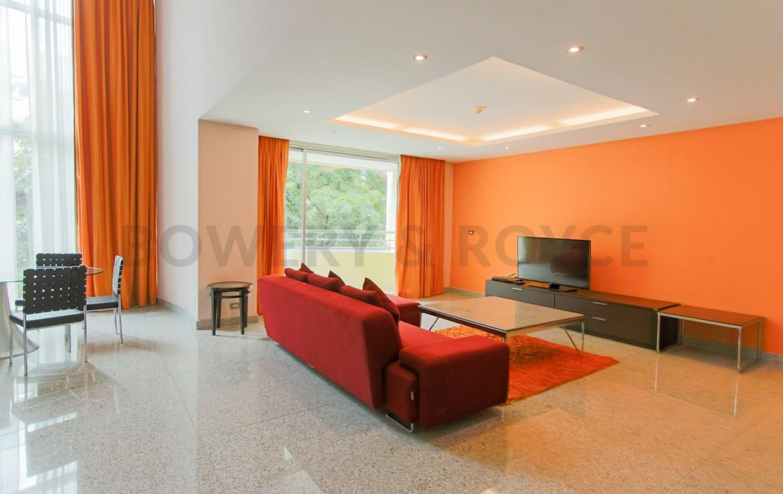 Large Two Bedroom Duplex For Rent in Phra Khanong-4-living-room