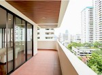 Spacious-Three-Bedroom-Condo-for-Rent-in-Asoke-12-master-bedroom-balcony