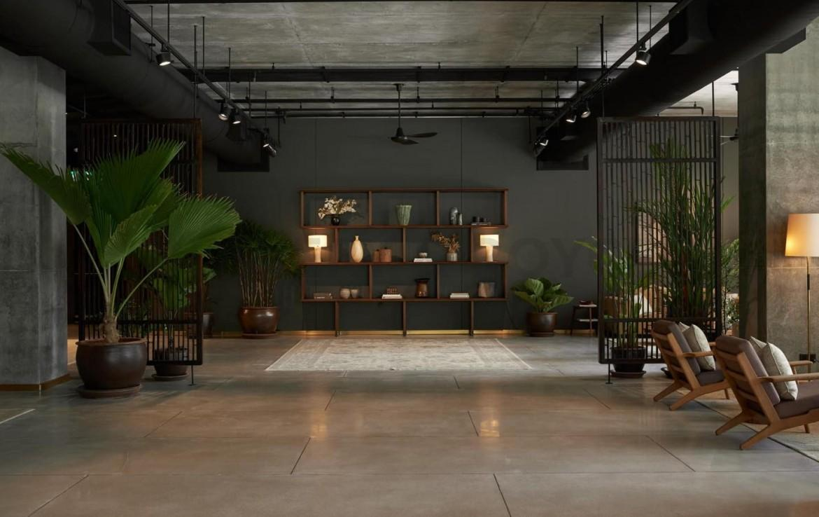 Industrial loft style bare shell condo for sale in Sathorn